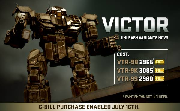 MWO Patch Notes Victor
