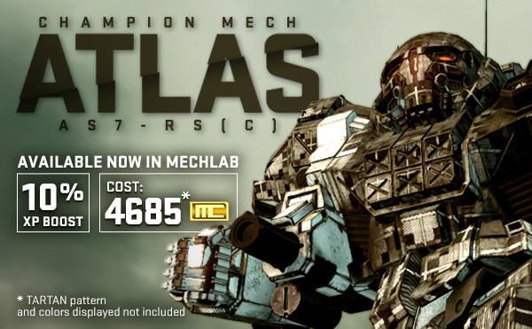 MWO Atlas RS(C) Champion Mech