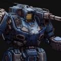 MWO Shadowhawk Blue